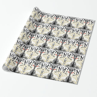 Art Deco Two Swans Wrapping Paper