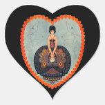 Art Deco Valentine Heart Sticker