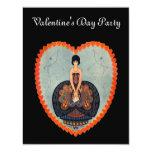Art Deco Valentine Personalised Invitations