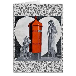 Art Deco Valentines Day Card