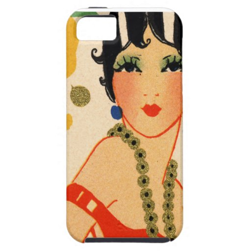 Art Deco Vamp, 1920s Flapper iPhone 5 Covers