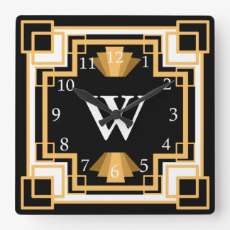 Art Deco Vintage 1920s Geometric Pattern Custom Clock