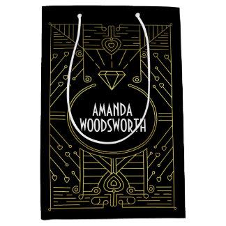 Art Deco Vintage Black and Gold Gift Bag