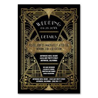 Art Deco Vintage Black Wedding Inserts Cards