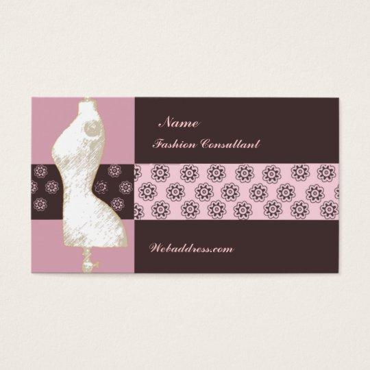 ART Deco Vintage Fashion Designer Consultant Business Card
