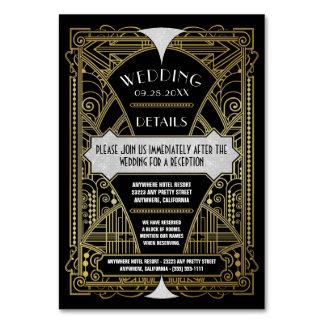 Art Deco Vintage Gold Black Wedding Inserts Cards