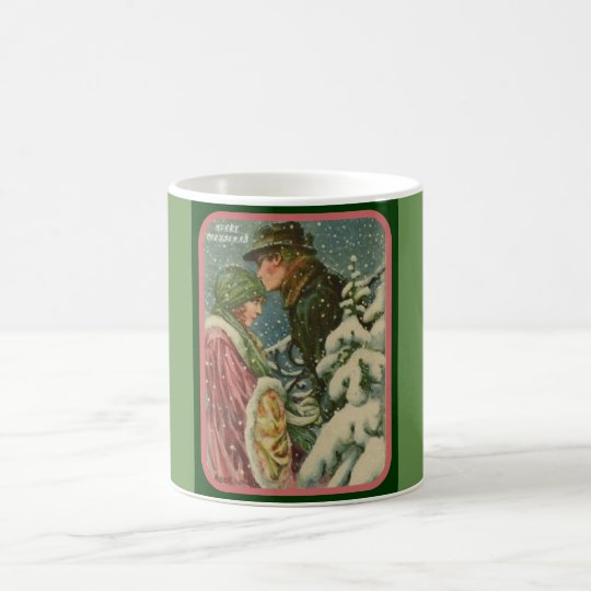 Art Deco Vintage Merry Christmas Mug
