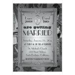Art Deco Vintage Posters Wedding Invitation