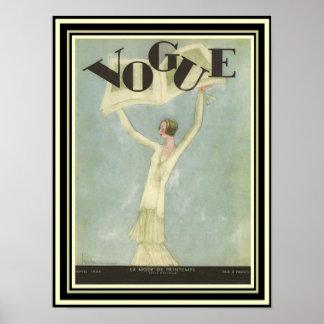 Art Deco Vogue Cover 12 x 16 Poster