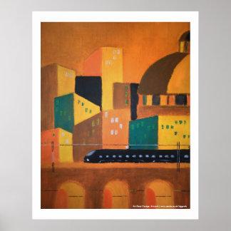 Art Deco Voyage poster/print/art Poster