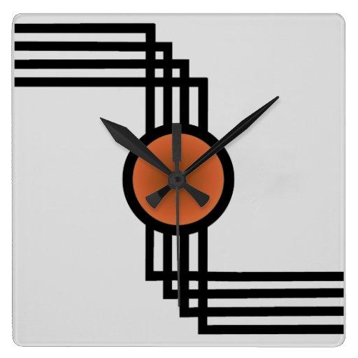 art deco wall clocks zazzle