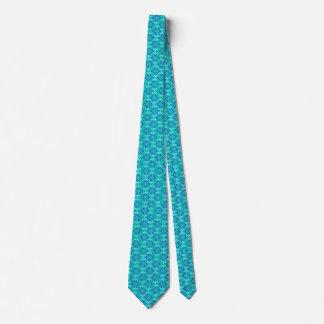 Art Deco Wallpaper Pattern, Turquoise and Cobalt Tie