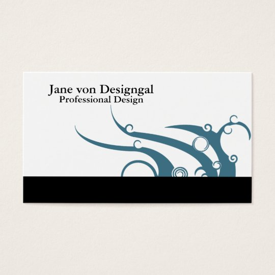 Art Deco Wave Business Card