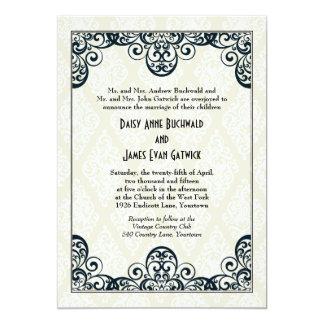Art Deco Wedding 13 Cm X 18 Cm Invitation Card