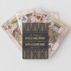 Art Deco Wedding Bicycle Playing Cards