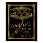 art deco wedding, cork, well wishes, gatsby poster