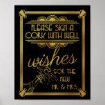 art deco wedding, cork, well wishes, gatsby poster
