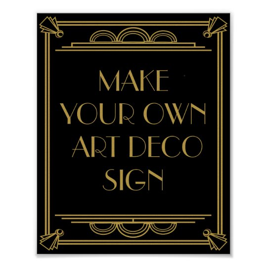 Art Deco Wedding or Party Sign make your