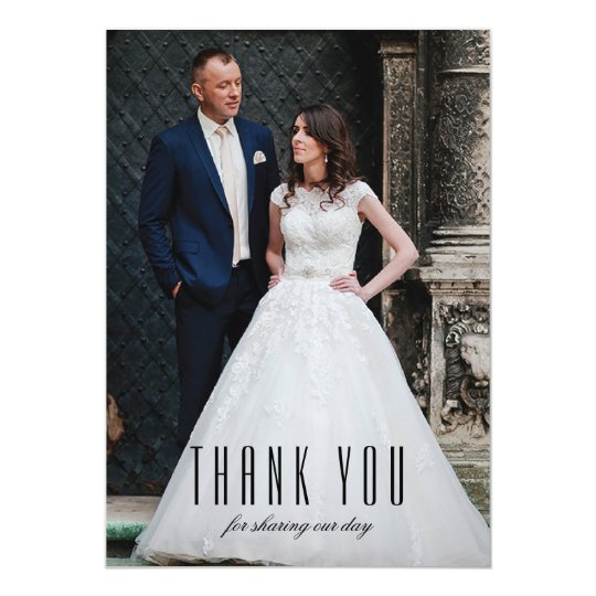 Art Deco Wedding Photo Thank You Cards