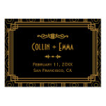 Art Deco Wedding Place Cards Pack Of Chubby Business Cards