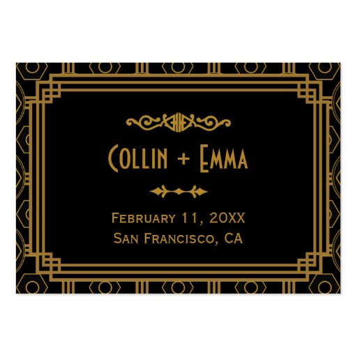 Art Deco Wedding Place Cards Business Card