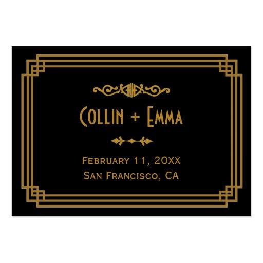 Art Deco Wedding Place Cards Business Card