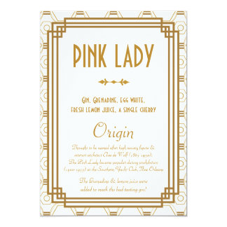 Art Deco Wedding Table Numbers 13 Cm X 18 Cm Invitation Card