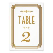 Art Deco Wedding Table Numbers Personalised Invite