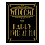 Art Deco welcome to our happy ever after! Poster