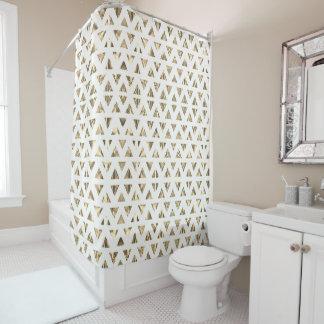 Art Deco White Shower Curtain