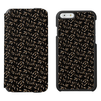 Art Deco Willow Leaf Pattern Incipio Watson™ iPhone 6 Wallet Case