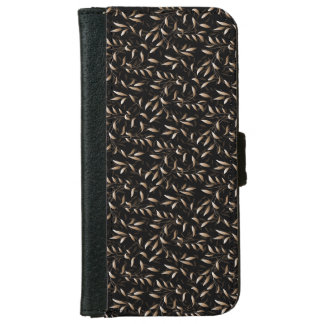 Art Deco Willow Leaf Pattern iPhone 6 Wallet Case