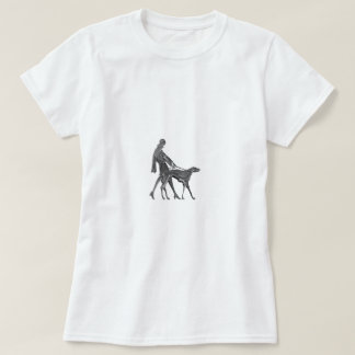Art Deco Woman and Dog T-Shirt