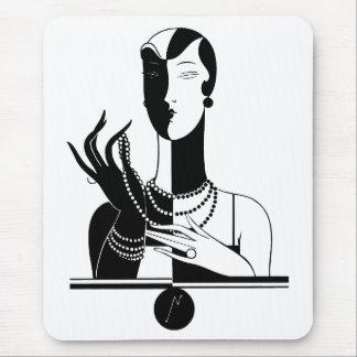 Art Deco Woman Mousepad