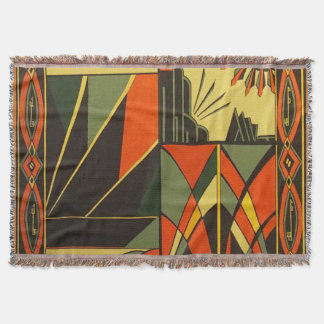 Art Deco Woven Throw