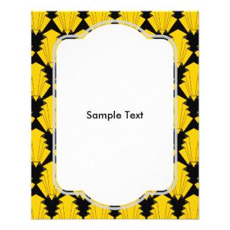 Art Deco Yellow 11.5 Cm X 14 Cm Flyer