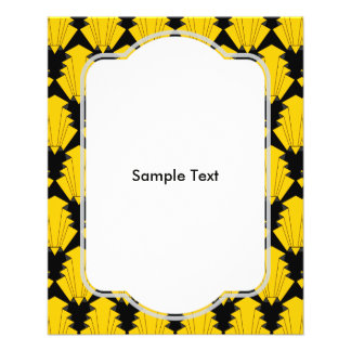 Art Deco Yellow 11.5 Cm X 14 Cm Flyer