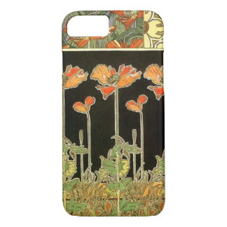 Art décoratifs (orange flowers) by Alphonse Mucha iPhone 8/7 Case