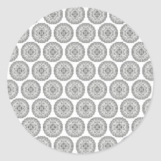 Art Design Patterns Modern classic tiles Beautiful Classic Round Sticker