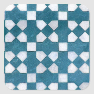 Art Design Patterns Modern classic tiles Beautiful Square Sticker
