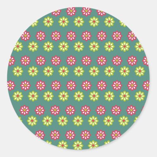 Art Design Patterns Modern classic tiles Beautiful Round Stickers