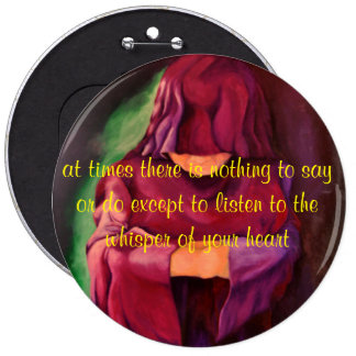 art designer button in silence I stand