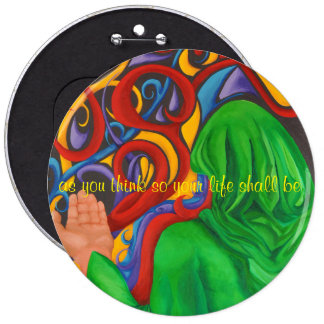 art designer button thoughts create