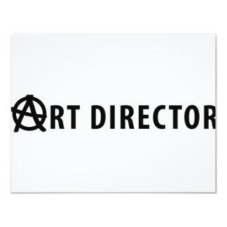 art director icon 11 cm x 14 cm invitation card