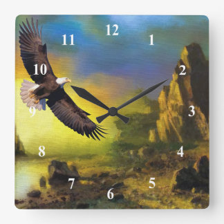 Art  Eagle Soaring Wall Clock