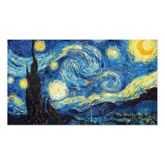 Art Education For Kids & Adults: The Starry Night Pack Of Standard Business Cards