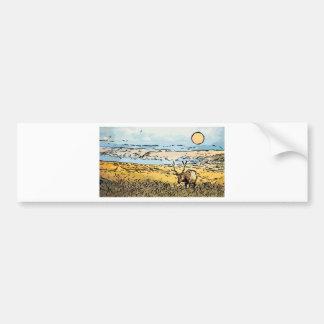 art-elk bumper sticker