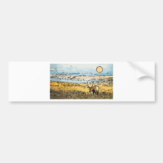 art-elk bumper sticker