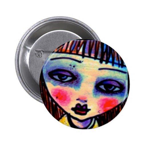 Art Eye Candy Girl Button