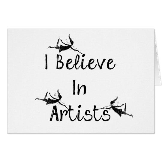 Art Fairies: I Believe In Artists Encouragement Card
